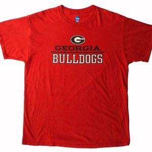 NCAA Georgia Bulldogs Red T Shirt XLarge